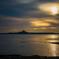 伊江島と夕日