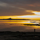 伊江島と夕日2