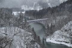 只見線 第一只見川橋梁風景