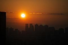 新宿に沈む夕陽