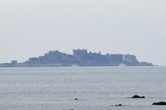 軍艦島を望む