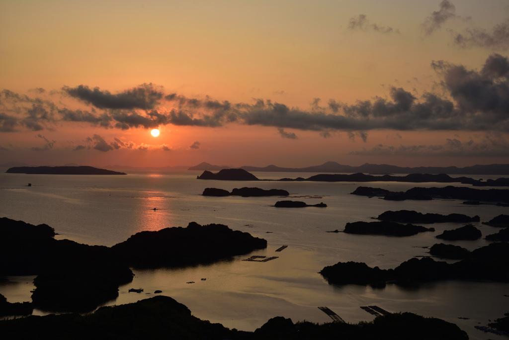 九十九島の陽