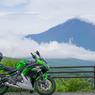 富士山と記念写真