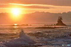 雨晴海岸の夜明け④