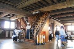 姫路城天守閣内の階段
