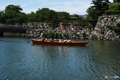 姫路城のお堀を一廻り