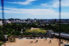 姫路城天守閣から見た姫路市内
