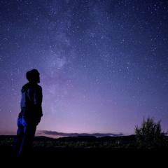 星空を見る