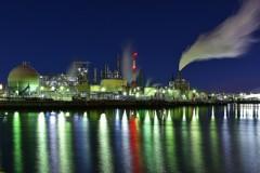 深夜の川崎工場夜景