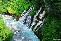 美瑛町白髭の滝&ブルーリバー