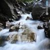 右岸瀑、上部の流れ