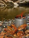 冬の川遊び~炭火起し器
