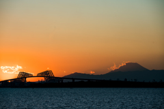 sunset view of tokyobay
