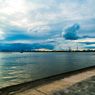 東京湾 8月の夕日
