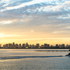 sunset  view of tokyo bay