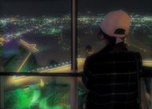 夜景眺める
