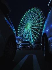 夜景を見に来た車たち
