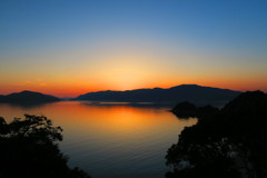 笠戸島の夕日