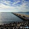 海と空を結ぶ桟橋