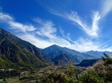台湾の冬の空