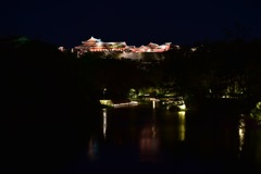 龍潭池越しの首里城