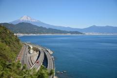 さった峠より臨む富士