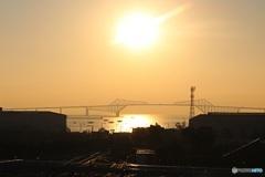 東京ゲートブリッジに日が昇る (東京 有明 早朝散歩 2)