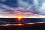 夕暮れの浜