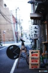 明石焼きと自転車