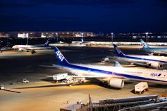 夜の国際線ターミナル
