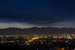 富山市夜景夜明け前