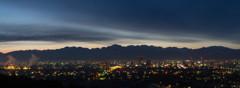 富山市夜景夜明け前(パノラマ)