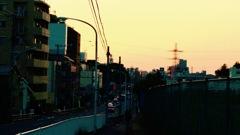 坂からの夕暮れ