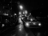 タクシーと雨