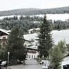 フネス谷の初雪