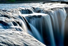 鍋釜滝の朝