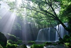 鍋ヶ滝の朝