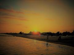 地中海。。夕陽に戯れて!!!