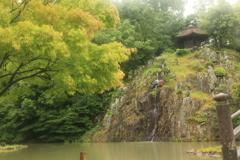 永保寺 白糸の滝