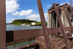 琵琶湖洗堰から、旧洗堰