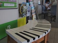 ある駅のベンチ