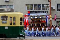 路面電車×長崎くんち2017
