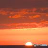 沈む太陽、染まる雲