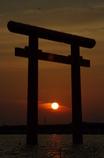 北浦の夕陽