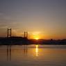 松川大橋と夕陽