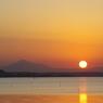 涸沼の夕陽