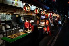 A street food vendor
