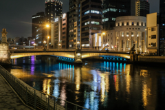 難波橋ライトアップ