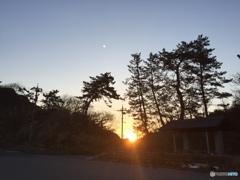 山の端  日の出