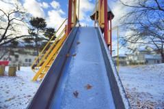 公園も冬景色